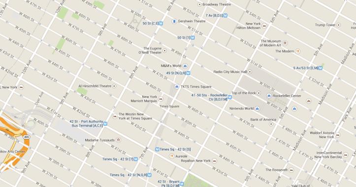 Times Square mappa