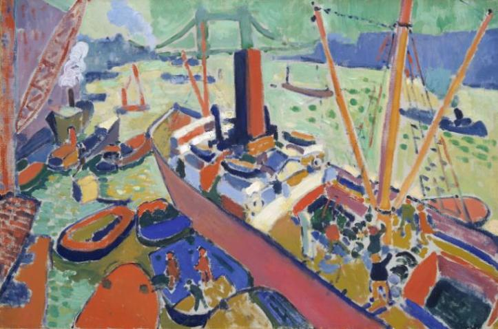 The Pool of London 1906 Andr? Derain 1880-1954 Presented by the Trustees of the Chantrey Bequest 1951 http://www.tate.org.uk/art/work/N06030
